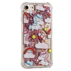 Angel Pony Dynamic Liquid Glitter Sand Quicksand Star TPU Case for iPhone 8 / 7 (4.7 inch)