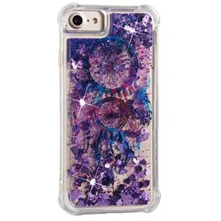 Retro Wind Chimes Dynamic Liquid Glitter Sand Quicksand Star TPU Case for iPhone 8 / 7 (4.7 inch)