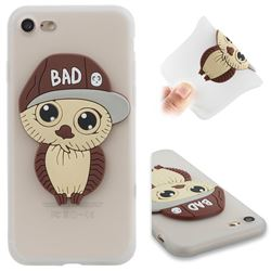 Bad Boy Owl Soft 3D Silicone Case for iPhone 8 / 7 (4.7 inch) - Translucent White