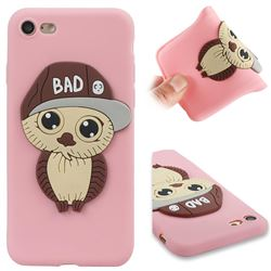 Bad Boy Owl Soft 3D Silicone Case for iPhone 8 / 7 (4.7 inch) - Pink