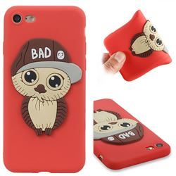 Bad Boy Owl Soft 3D Silicone Case for iPhone 8 / 7 (4.7 inch) - Red
