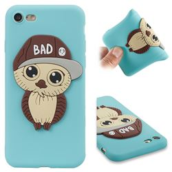 Bad Boy Owl Soft 3D Silicone Case for iPhone 8 / 7 (4.7 inch) - Sky Blue