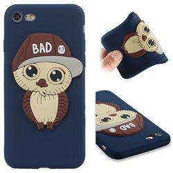 Bad Boy Owl Soft 3D Silicone Case for iPhone 8 / 7 (4.7 inch) - Navy