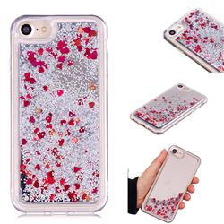 Glitter Sand Mirror Quicksand Dynamic Liquid Star TPU Case for iPhone 8 / 7 (4.7 inch) - Red