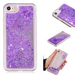 Glitter Sand Mirror Quicksand Dynamic Liquid Star TPU Case for iPhone 8 / 7 (4.7 inch) - Purple