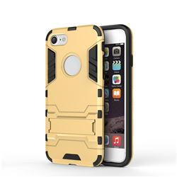 Armor Premium Tactical Grip Kickstand Shockproof Dual Layer Rugged Hard Cover Golden