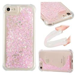 Dynamic Liquid Glitter Sand Quicksand TPU Case for iPhone 8 / 7 (4.7 inch) - Silver Powder Star
