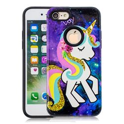 Rainbow Horse Pattern 2 in 1 PC + TPU Glossy Embossed Back Cover for iPhone 8 / 7 (4.7 inch)