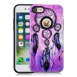Starry Wind Chimes Pattern 2 in 1 PC + TPU Glossy Embossed Back Cover for iPhone 8 / 7 (4.7 inch)
