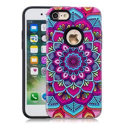 Datura Flowers Pattern 2 in 1 PC + TPU Glossy Embossed Back Cover for iPhone 8 / 7 (4.7 inch)