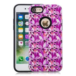 Lotus Flower Pattern 2 in 1 PC + TPU Glossy Embossed Back Cover for iPhone 8 / 7 (4.7 inch)