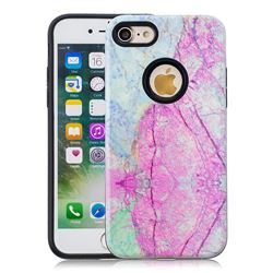 Pink Marble Pattern 2 in 1 PC + TPU Glossy Embossed Back Cover for iPhone 8 / 7 (4.7 inch)
