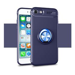 Auto Focus Invisible Ring Holder Soft Phone Case for iPhone 8 / 7 (4.7 inch) - Blue