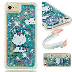 Tiny Unicorn Dynamic Liquid Glitter Sand Quicksand Star TPU Case for iPhone 8 / 7 (4.7 inch)