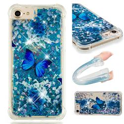 Flower Butterfly Dynamic Liquid Glitter Sand Quicksand Star TPU Case for iPhone 8 / 7 (4.7 inch)