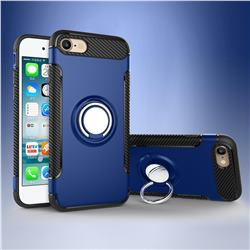 Armor Anti Drop Carbon PC + Silicon Invisible Ring Holder Phone Case for iPhone 8 / 7 (4.7 inch) - Sapphire
