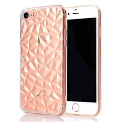Diamond Pattern Shining Soft TPU Phone Back Cover for iPhone 8 / 7 (4.7 inch) - Transparent