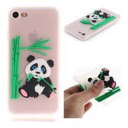 Panda Eating Bamboo Soft 3D Silicone Case for iPhone 8 / 7 (4.7 inch) - Translucent