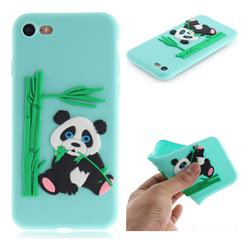 Panda Eating Bamboo Soft 3D Silicone Case for iPhone 8 / 7 (4.7 inch) - Green
