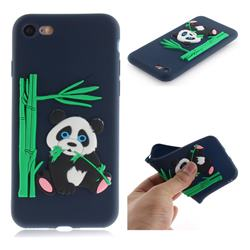 Panda Eating Bamboo Soft 3D Silicone Case for iPhone 8 / 7 (4.7 inch) - Dark Blue