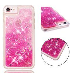 Dynamic Liquid Glitter Quicksand Sequins TPU Phone Case for iPhone 8 / 7 (4.7 inch) - Rose