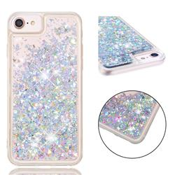 Dynamic Liquid Glitter Quicksand Sequins TPU Phone Case for iPhone 8 / 7 (4.7 inch) - Silver