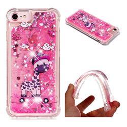 Skateboard Deer Dynamic Liquid Glitter Sand Quicksand Star TPU Case for iPhone 8 / 7 (4.7 inch)