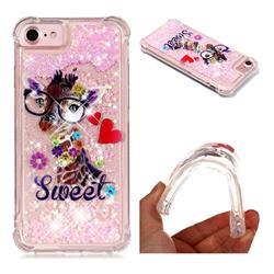 Sweet Deer Dynamic Liquid Glitter Sand Quicksand Star TPU Case for iPhone 8 / 7 (4.7 inch)