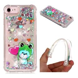 Heart Frog Lion Dynamic Liquid Glitter Sand Quicksand Star TPU Case for iPhone 8 / 7 (4.7 inch)