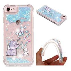 Bubble Jumbo Rabbit Dynamic Liquid Glitter Sand Quicksand Star TPU Case for iPhone 8 / 7 (4.7 inch)