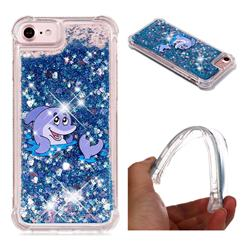 Happy Dolphin Dynamic Liquid Glitter Sand Quicksand Star TPU Case for iPhone 8 / 7 (4.7 inch)