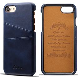 Suteni Retro Classic Card Slots Calf Leather Coated Back Cover for iPhone 8 / 7 (4.7 inch) - Blue