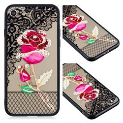 Rose Lace Diamond Flower Soft TPU Back Cover for iPhone 8 / 7 (4.7 inch)
