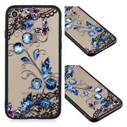 Butterfly Lace Diamond Flower Soft TPU Back Cover for iPhone 8 / 7 (4.7 inch)