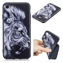 Lion 3D Embossed Relief Black TPU Cell Phone Back Cover for iPhone 8 / 7 (4.7 inch)