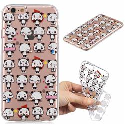 Mini Panda Clear Varnish Soft Phone Back Cover for iPhone 8 / 7 (4.7 inch)