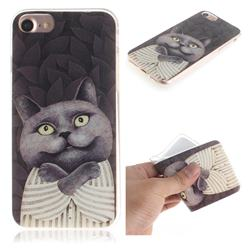 Cat Embrace IMD Soft TPU Cell Phone Back Cover for iPhone 8 / 7 (4.7 inch)