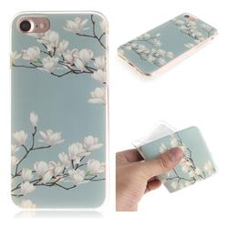 Magnolia Flower IMD Soft TPU Cell Phone Back Cover for iPhone 8 / 7 (4.7 inch)
