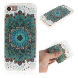 Peacock Mandala IMD Soft TPU Cell Phone Back Cover for iPhone 8 / 7 (4.7 inch)