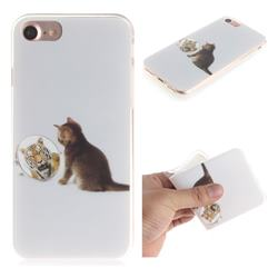 Cat and Tiger IMD Soft TPU Cell Phone Back Cover for iPhone 8 / 7 (4.7 inch)