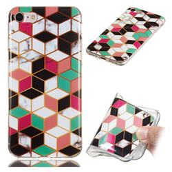 Three-dimensional Square Soft TPU Marble Pattern Phone Case for iPhone 8 / 7 (4.7 inch)