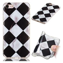 Black and White Matching Soft TPU Marble Pattern Phone Case for iPhone 8 / 7 (4.7 inch)