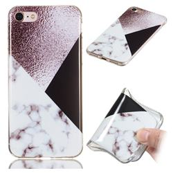 Black white Grey Soft TPU Marble Pattern Phone Case for iPhone 8 / 7 (4.7 inch)