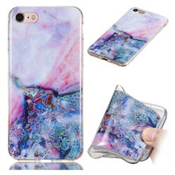 Purple Amber Soft TPU Marble Pattern Phone Case for iPhone 8 / 7 (4.7 inch)
