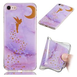 Elf Purple Soft TPU Marble Pattern Phone Case for iPhone 8 / 7 (4.7 inch)