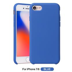 Howmak Slim Liquid Silicone Rubber Shockproof Phone Case Cover for iPhone 8 / 7 (4.7 inch) - Sky Blue