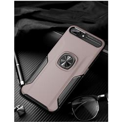 Knight Armor Anti Drop PC + Silicone Invisible Ring Holder Phone Cover for iPhone 8 / 7 (4.7 inch) - Rose Gold