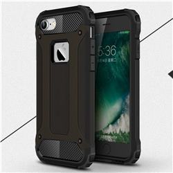King Kong Armor Premium Shockproof Dual Layer Rugged Hard Cover for iPhone 8 / 7 (4.7 inch) - Black Gold