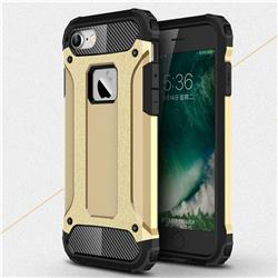 King Kong Armor Premium Shockproof Dual Layer Rugged Hard Cover for iPhone 8 / 7 (4.7 inch) - Champagne Gold