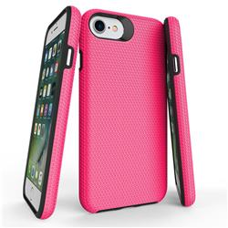 Triangle Texture Shockproof Hybrid Rugged Armor Defender Phone Case for iPhone 8 / 7 (4.7 inch) - Rose